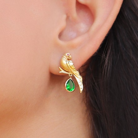 Charming Parrot Drop Earrings