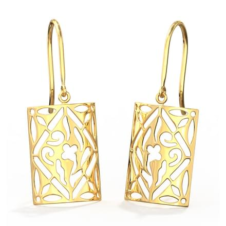 Curvilinear Cutout Drop Earrings