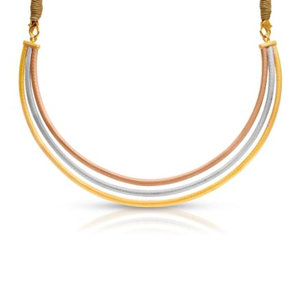 Three Tone Plated Gold Hasli Necklace