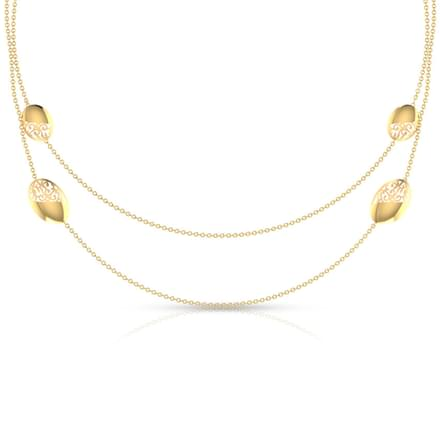 Isabella Oval Cutout Necklace