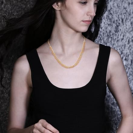 Cylindrical Layered Necklace