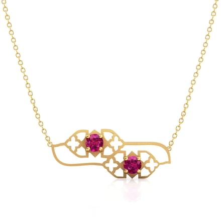 Amer Lawn Cutout Necklace