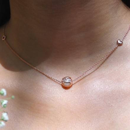 Pearl Orb Clover Necklace