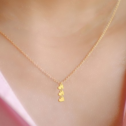 Minimalistic Hearts Necklace