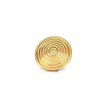 Whirl Gold Nose Pin