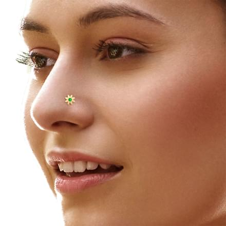 Shifa Bloom Nose Pin