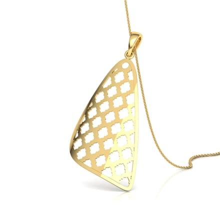 Latticed Triangular Lace Pendant