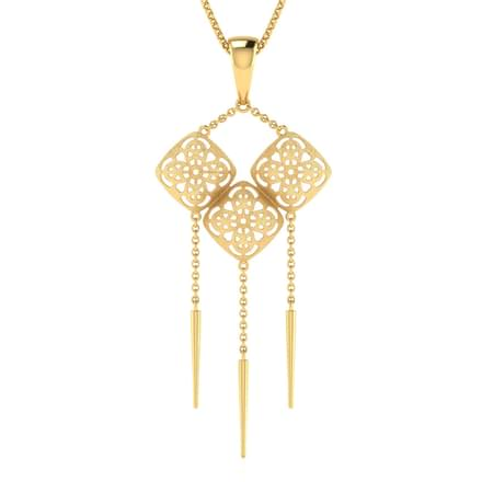 Avery Windchimes Gold Pendant