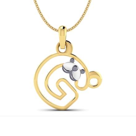 Teddy alphabet g pendant jewellery india online caratlane teddy alphabet g pendant aloadofball Images