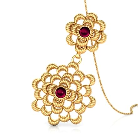 Duo Floral Gold Pendant