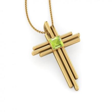Deco peridot cross pendant jewellery india online caratlane deco peridot cross pendant mozeypictures Gallery