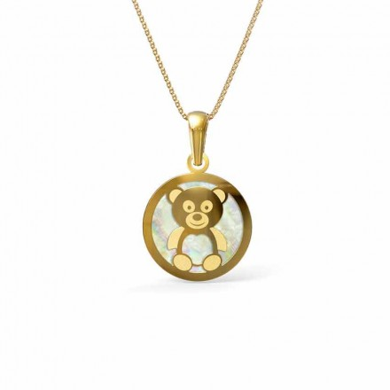 Teddy Mother of Pearl Pendant