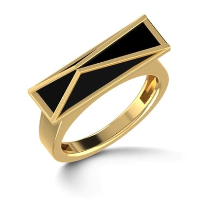 Black Pyramid Ring