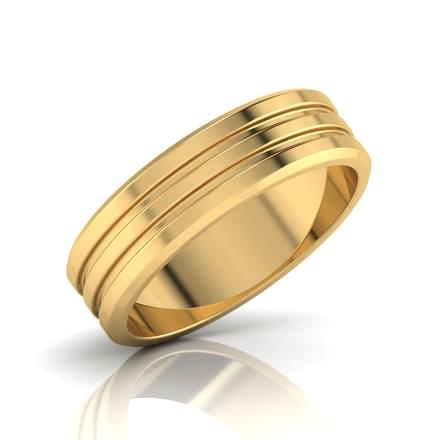 Adler Gold Band for Him Jewellery India line CaratLane