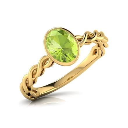 Wave Peridot  Birthstone Ring