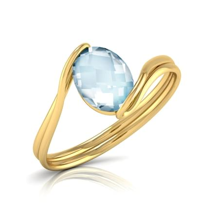 Claire Curve Topaz Ring