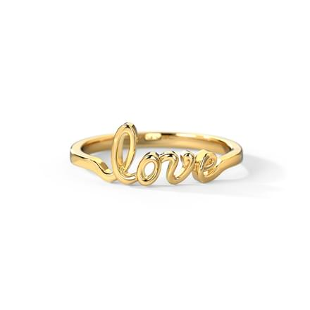 Love Cursive Ring