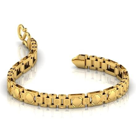 Patterned Strap Men's Bracelet