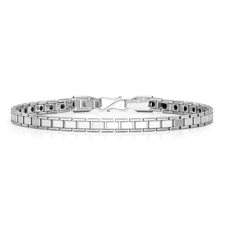 Classic Platinum Links Bracelet