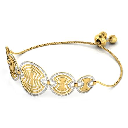 Ovate Cutout Adjustable Gold Bracelet