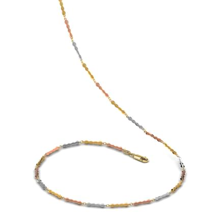 Three Tone Link Gold Chain