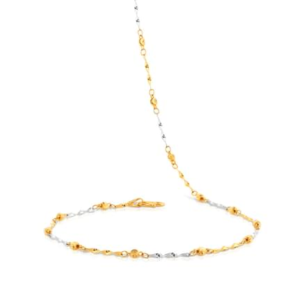 Twine Bead Link Gold Chain