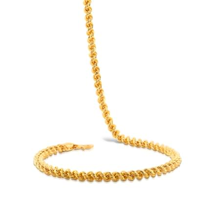 Curly Link Gold Chain