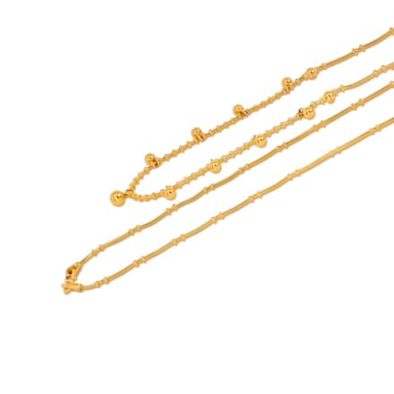 Charm Ball Round Gold Chain