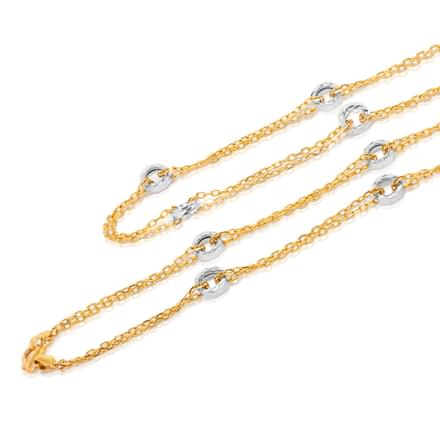 Loop Layered Cable Gold Chain