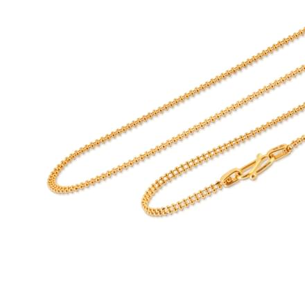 Duo Strand Ball Gold Chain