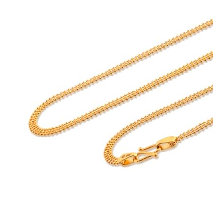 Tri Strand Ball Gold Chain