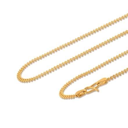 Dual Strand Ball Gold Chain