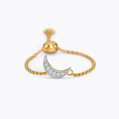 40203361a Crescent and Star Flexi Ring ...