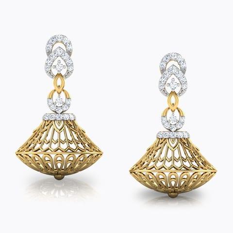 33 Jhumkas Earrings Designs, Buy Gold and Diamond Jhumkas Earrings