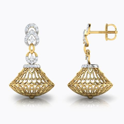 Creel Dome Jhumkas Jewellery India Online - CaratLane.com