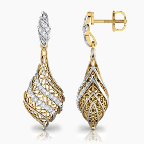 Structured Leaf Jhumkas Jewellery India Online - CaratLane.com
