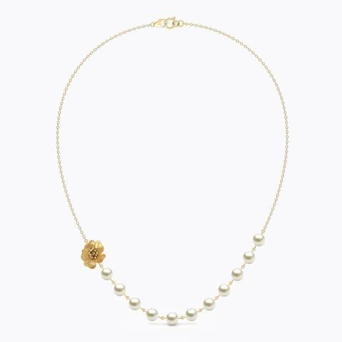 Floret Pearl String Necklace hover