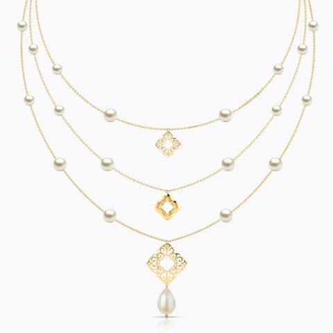 Nelia Cutout Necklace hover
