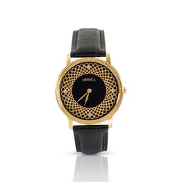 Nebula Filigree  Watch For Men With Black + Gold Dial