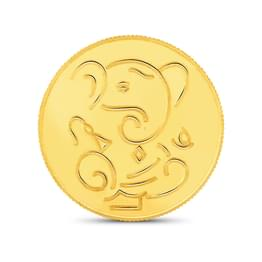 4gm, 22Kt Lucky Ganesha Gold Coin