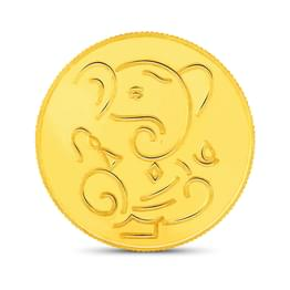 8gm, 24Kt Lucky Ganesha Gold Coin