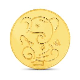 10gm, 22Kt Lucky Ganesha Gold Coin