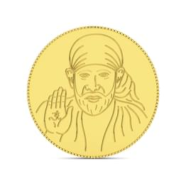 4gm, 24Kt Shirdi Sai Baba Gold Coin