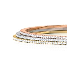 Sheen Diamond Stackable Bangles