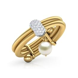 Dangling Pearl Adjustable Ring