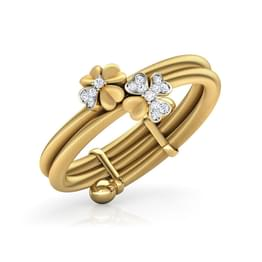 Duo Floret Adjustable Ring