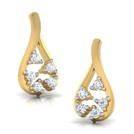 Golden Ribbon Earrings