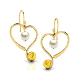 Curly Citrine Earrings