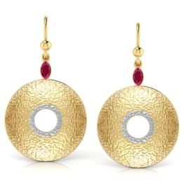 Open-disc Drop Earrings