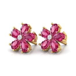 Scarlet Flower Earrings